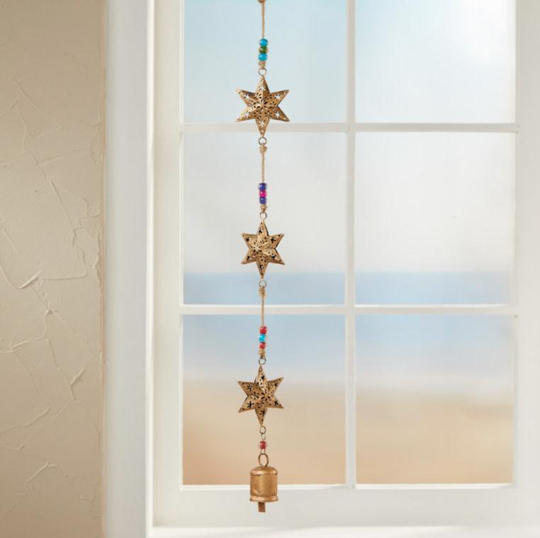 SERRV Recycled Stars Bell Hanger