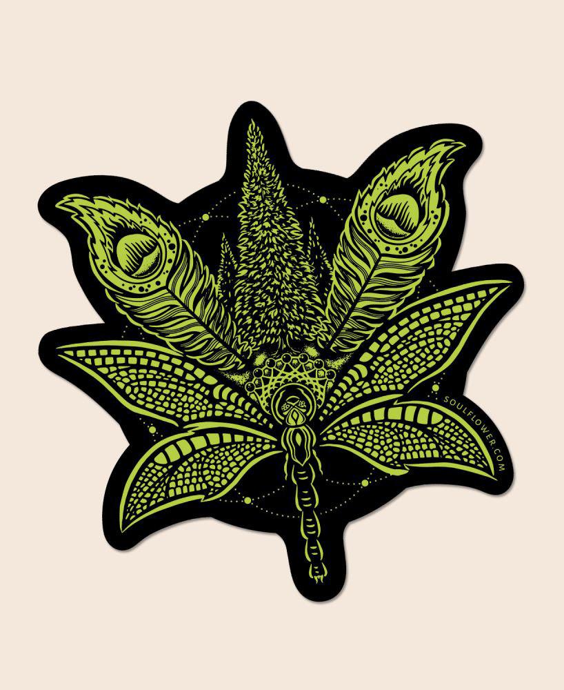 Soul Flower Sacred Cannabis Sticker