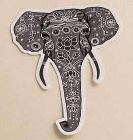 Soul Flower Painted Elephant Sticker