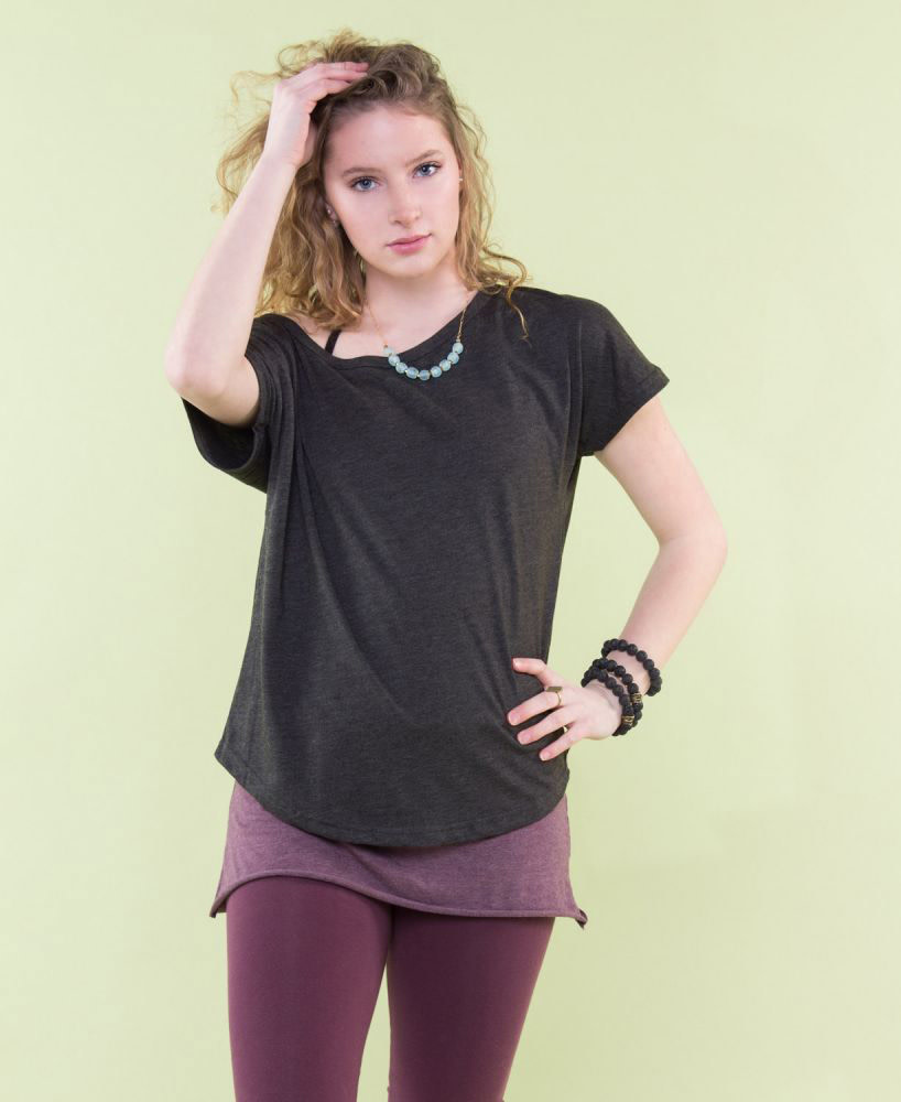 Soul Flower Recycled Slouch Top