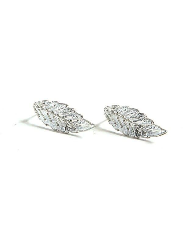 Fair Anita Foliage Stud Earrings - Silver
