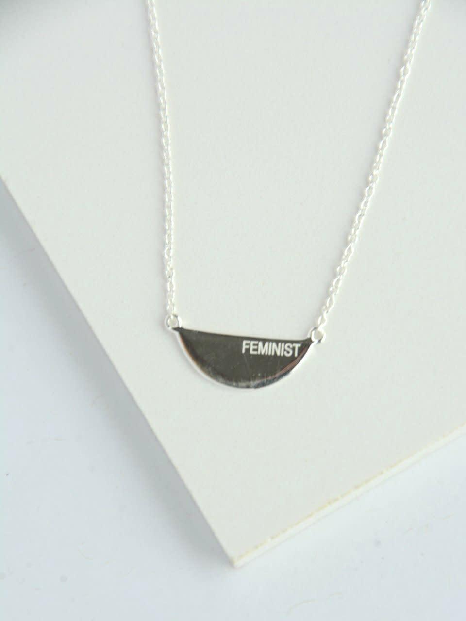 Fair Anita Fair Feminist Necklace- Sterling Silver