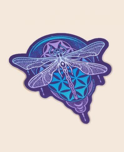 Soul Flower Dragonfly Mandala Sticker