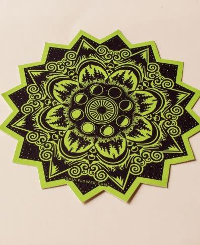 Soul Flower Mountain Mandala Sticker