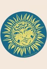 Soul Flower Sun Art Sticker