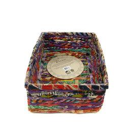 Minga Imports Sari Rectangle Basket