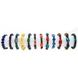 Minga Imports Tagua Jungle Stretch Bracelet