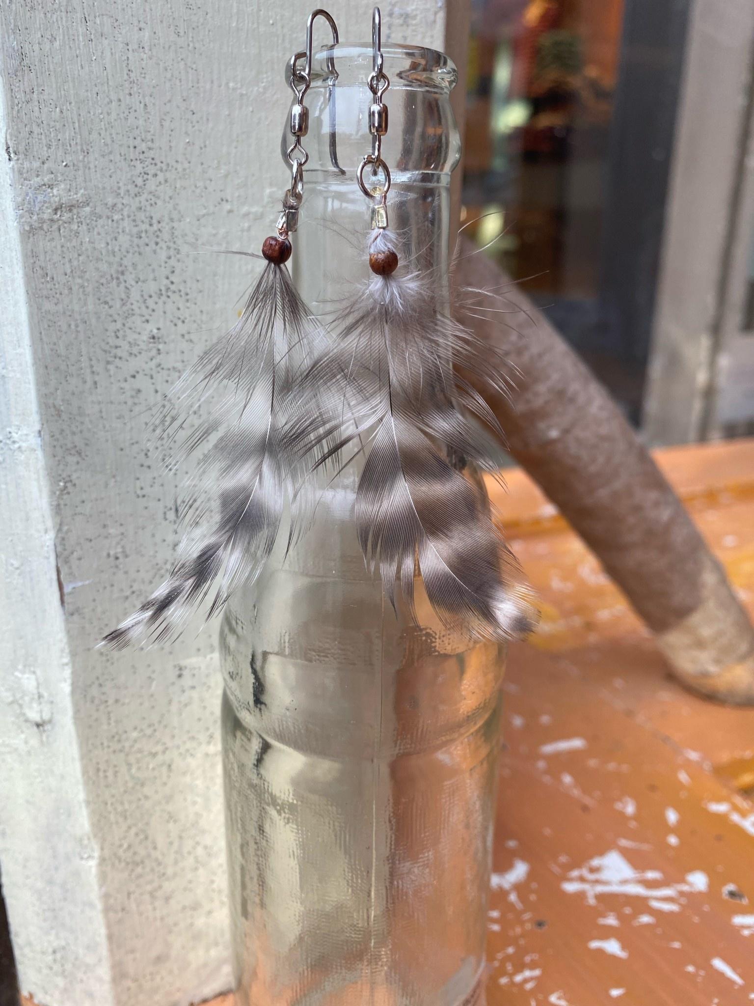 Ziggywear Chicken Feather Earrings