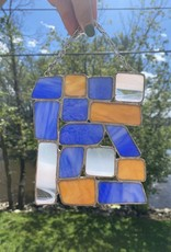 Amber Stained Glass Suncatcher