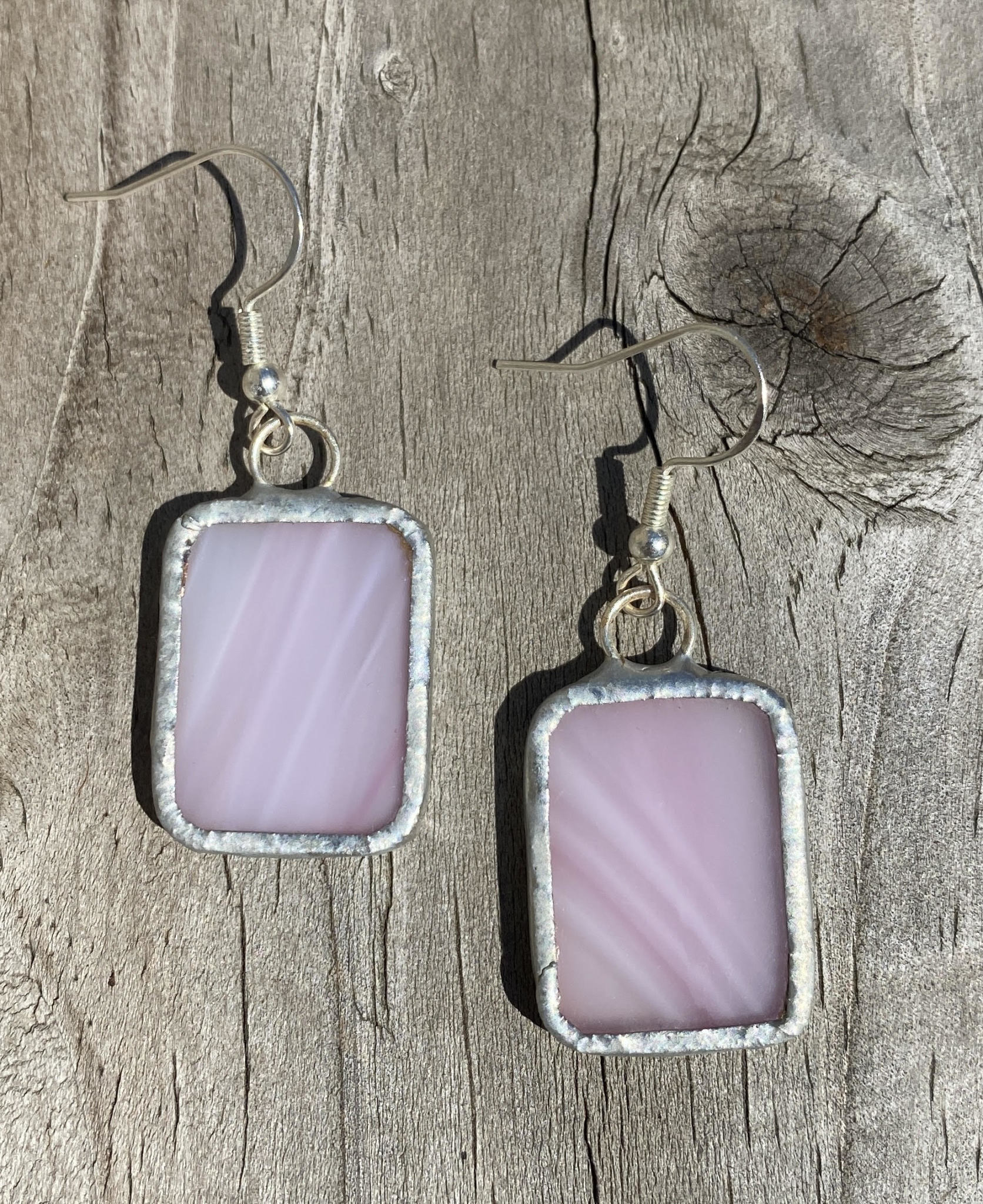 Stained Glass Earrings Rectangle