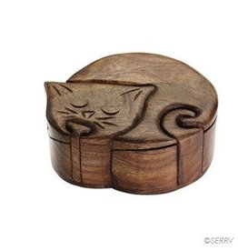 SERRV Cat Puzzle Box