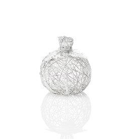 SERRV Wire-wrapped pumpkin - Small white