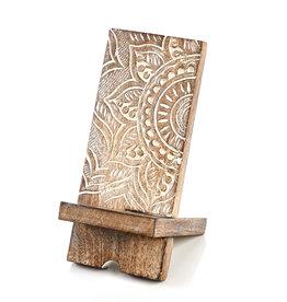 SERRV Mango Wood Mandala Phone Stand