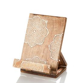 SERRV Mango Wood Mandala Recipe/ipad Stand