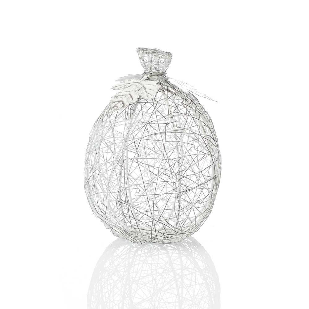 SERRV Wire-wrapped Pumpkin - Tall White