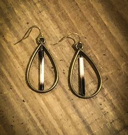 Ziggywear Bronze Quill Teardrop Earrings