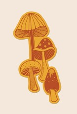 Soul Flower Retro Mushrooms Sticker