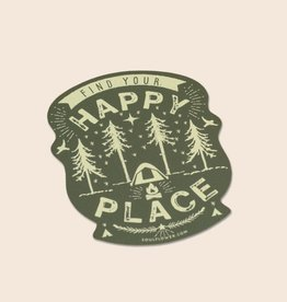 Soul Flower Happy Place Camping Sticker