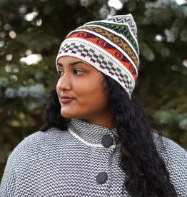 Minga Imports Alpaca Blend Reversible Beanie Hat