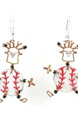 Global Crafts Dancing Baseball Earrings