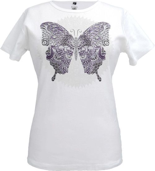 Green 3 Apparel Doily Butterfly