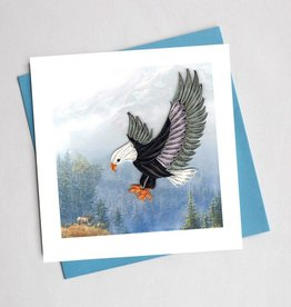 Quilling Card Flying Eagle