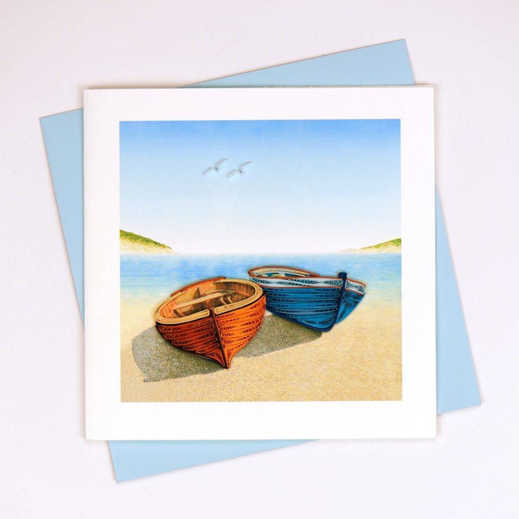 Quilling Card Boats