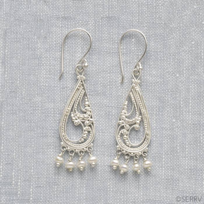 SERRV Paisley Drop Earrings