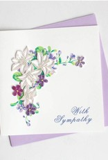 Quilling Card Flower Sympathy
