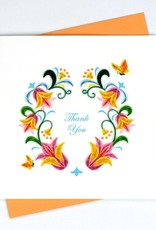 Quilling Card Thank You Flower Wreath