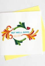Quilling Card Get Well Soon