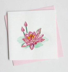 Quilling Card Pink lotus