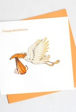Quilling Card Stork Delivery