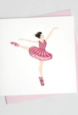 Quilling Card Ballerina