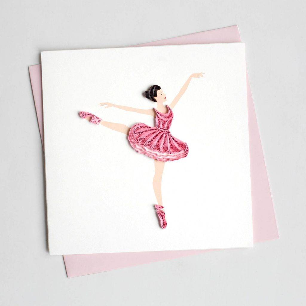 Quilling Card Ballerina