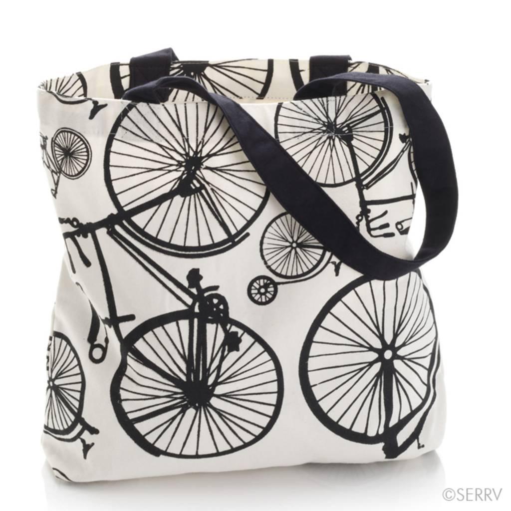 SERRV Bicycle Print Tote