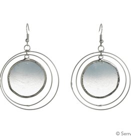SERRV Blue Capiz Orbit Earrings