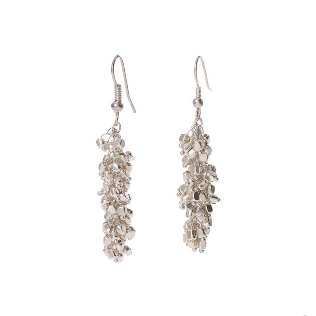 SERRV Silver Cluster Earrings