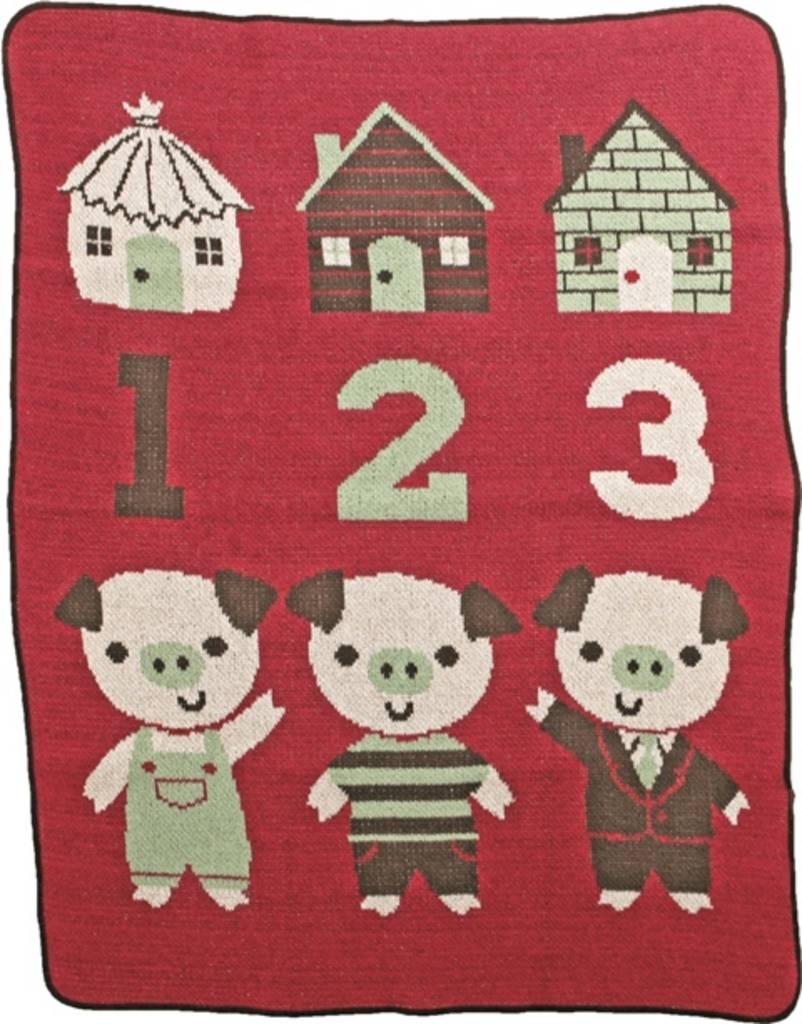 Green 3 Apparel 3 Little Pigs Jr. Throw
