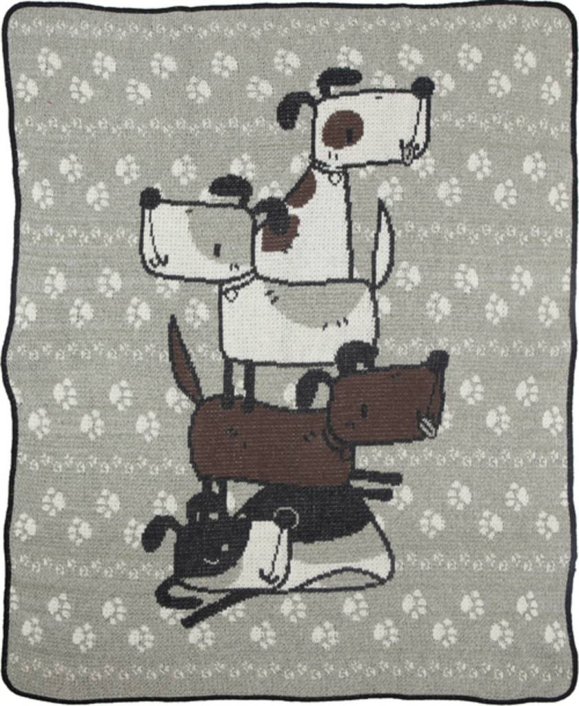 Green 3 Apparel Stacked Doggies Jr. Throw 2