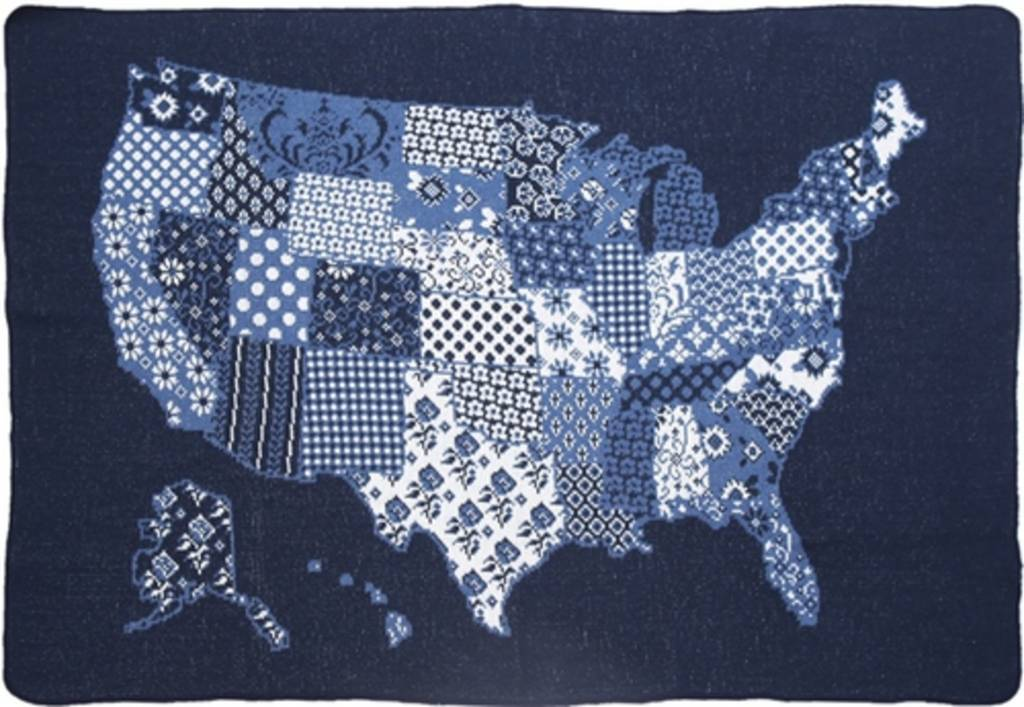Green 3 Apparel US Map Quilt Mid Throw