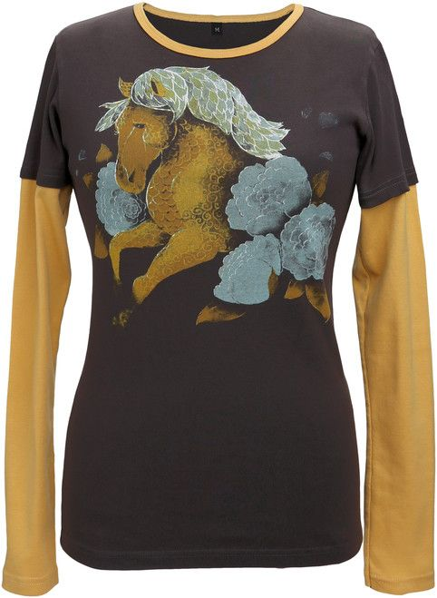 Green 3 Apparel Painted Horse DU