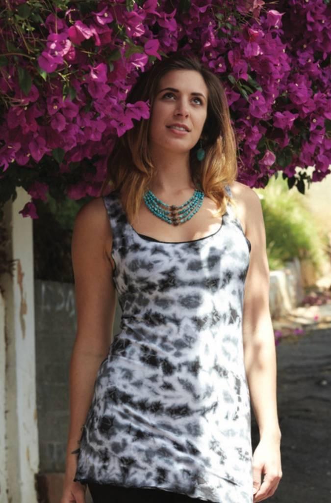 Jayli Cotton/Lycra Tie Dye Tank