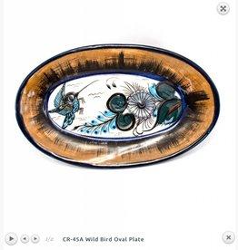 Birds Oval Plate