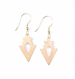 Mata Traders Petit Arrow Earrings Gold