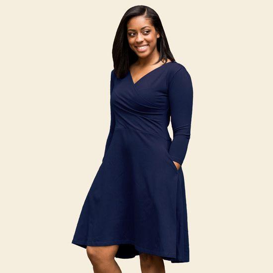 3/4 Sleeve Circle Dress