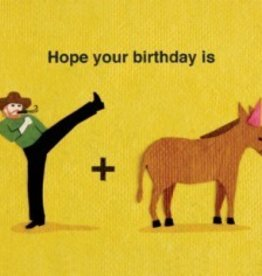 Good Paper Kick Donkey Birthday