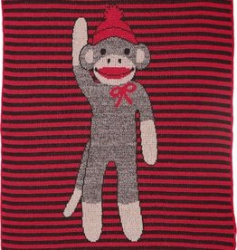 Green 3 Apparel Sock Monkey Stripe Jr Throw