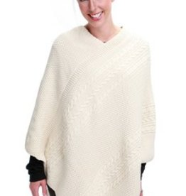 Green 3 Apparel Natural Cotton Cable Poncho