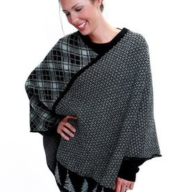 Green 3 Apparel Tree Stripe Poncho